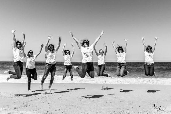 EVJF saut sur la plage